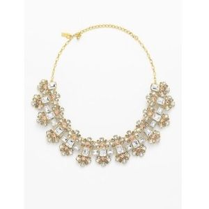 12k Gold Plate Crystal Statement Necklace